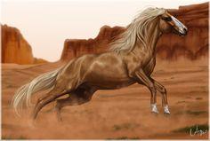 Commission: To the desert by Naia-Art.deviantart.com on @DeviantArt