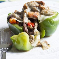 These Cheesesteak Stuffed Peppers are the ultimate high flavor, low carb dish. Lean flank steak, melted cheese, and savory peppers combine for heavenly flavor in each and every bite. You definitely won't feel like you're eating healthy when you dive into this dish.