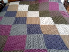 Ravelry: Project Gallery for Patchwork Sampler Throw #L0603 pattern by Lion Brand Yarn