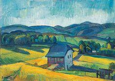 Kmetty János 1889-1975 Hilly Landscape, 1910's
