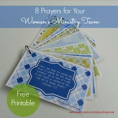 8 Prayers for Your Team (Free Printable) - 8 prayers with scripture verses to pray for your Women's Ministry Team