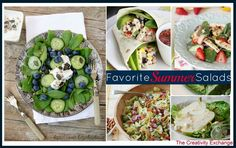 Favorite Summer Salads {Friday Favorites} on The Creativity Exchange
