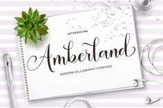 Amberland Script by Area Type Studio on @creativemarket