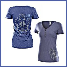 ⚡️Sale Short Sleeve V-Neck Top Super Cute V-Neck Short a Sleeve Shirt. Front has Graphics at the bottom left side and the back has graphics all over. Very cute, soft, comfy top. 100% Cotton. Monoreno Tops