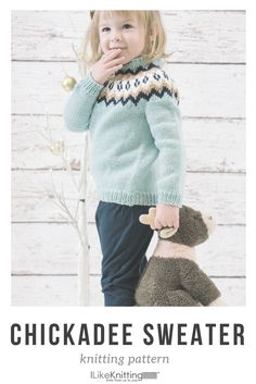 """""""A classic yoked sweater knitted from the bottom up with stranded colorwork round the neck to keep your little one chic and cozy through the cold months. Did we mention it's also machine washable?"""""""