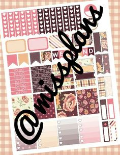 FREE Hi loves! This week's printable is a fall floral themed printable! It's simple and functional with some full box stickers. I hope you all enjoy it! :) Glam Fall *All images belong to their rightful...