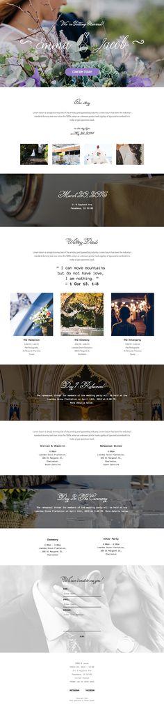 Wedding Template Adobe Muse #wedding #template #website #theme
