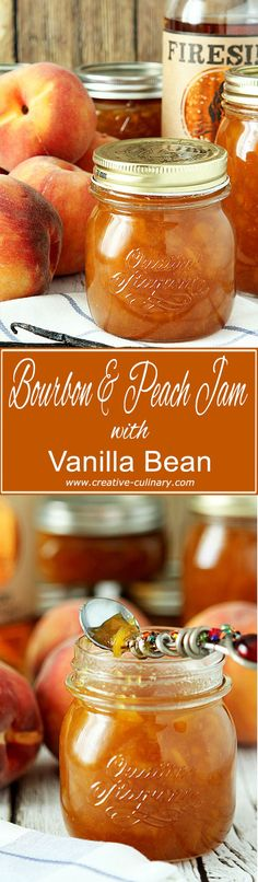 I think bourbon is the perfect spirit to pair with peaches and this Bourbon Peach Jam with Vanilla Bean is a decadent start to the day!