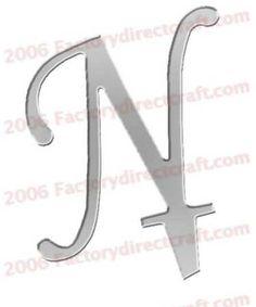 """4.5"""" Monogram mirror N $7.99"""