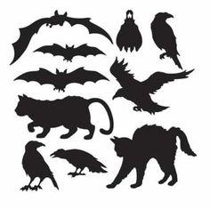 10 Halloween Animal Silhouettes Cutout Party Decoration | eBay
