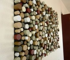 DIY Wall Art Ideas and Do It Yourself Wall Decor for Living Room, Bedroom, Bathroom, Teen Rooms |   Sliced Dowel Wall Art  | Cheap Ideas for Those On A Budget. Paint Awesome Hanging Pictures With These Easy Step By Step Tutorials and Projects  |  http://diyjoy.com/diy-wall-art-decor-ideas
