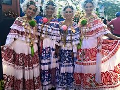 Girls in #polleras #Panama #Carnival is only a few weeks away!