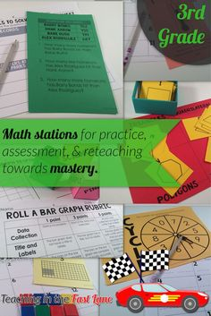 Awesome math stations for individual assessment, partner practice, or guided math. These totally changed our math block!