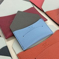 Moynat @moynat Pale blue mood. #...Instagram photo | Websta (Webstagram) Leather Gifts, Leather Card Case, Leather Pouch, Leather Craft, Mood Instagram, Leather Workshop, Scrap Material, Pouch Pattern, Leather Projects