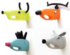 Inspiration : Trophy Animal Heads from Recycled Bottles and Items