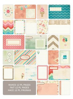 Project Life Summer Themed Cards WANT!