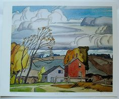 $29.99   Group OF Seven ART Print Autumn Wind BY A J Casson | eBay