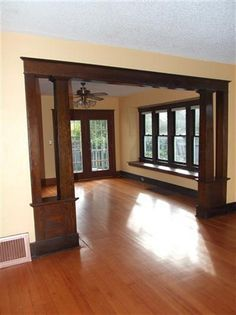 Interior Door Colors With Dark Trim Craftsm. Interior Door Colors With Dark Trim Craftsman Style 21 Ideas For Pictures From HGTV Urban Oasis major Craftsman Style Interiors, Craftsman Interior, Craftsman Style Homes, Craftsman Bungalows, Interior Door, Craftsman Trim, Craftsman Columns, Craftsman Dining Room, Bungalow Interiors