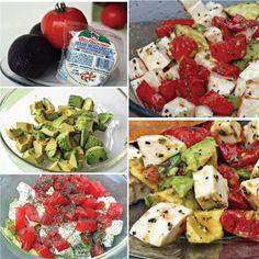 Una rica ensalada con tomates, aguacate y queso mozzarella de búfala.. como prefieres la tuya? #revistainkomoda