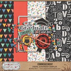 FREE May 2016 DigiScrap Parade — Commencement : Peppermintcreative [ 47 Designers ]