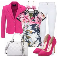 Business Outfits: Melody bei FrauenOutfits.de #Pink #Heels #Buisness #Beautiful