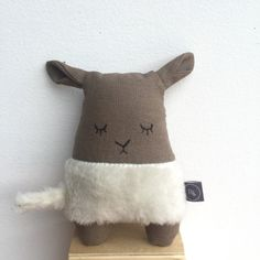 SHEEP plushie soft toy linen doll stuffed by BILLOOboutique