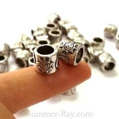Tibetan silver spacer bead T11450