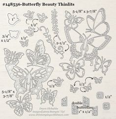Sneak Peek Butterfly Beauty Thinlits & December Host Code (Mary Fish, Stampin' Pretty The Art of Simple & Pretty Cards) Butterfly Cards, Butterfly Design, Paper Butterflies, Stamp Making, Card Making, Mary Fish, Stampin Pretty, Butterfly Birthday, Fun Fold Cards
