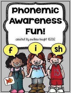 Phonemic Awareness Fun:  Activities and ideas to help you develop phonemic awareness.  (25 pages, $)