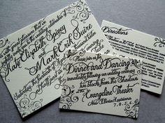 Letterpress Invitation on Crane Lettra Paper