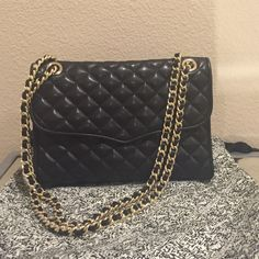 FINAL PRICE Minkoff Quilted Leather Shoulder Bag Used a few times. No signs of wear. No stains, tears, or defects. Excellent condition.  This is the larger size (not mini affair) Rebecca Minkoff Bags Shoulder Bags