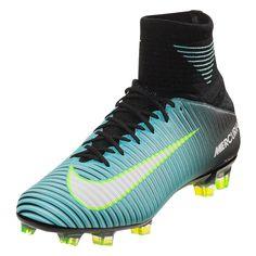 7e9e59b54 Nike Women s Mercurial Veloce III DF FG Soccer Cleat - Light Aqua White  Black Volt