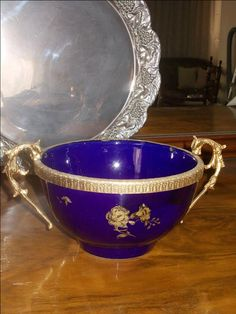 a rare luxury old time classic rare antique bawl with pattern decorated in blue porcelain by StrangeAttachments on Etsy Rare Antique, Decorative Bowls, Porcelain, Luxury, Antiques, Unique Jewelry, Tableware, Classic, Handmade Gifts