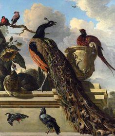 Melchior d'Hondecoeter c. 1686  Birds in a Park