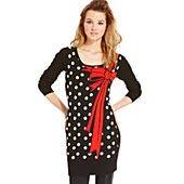 Material Girl Juniors' Polka-Dot Graphic Sweater Tunic