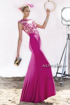Alyce Claudine 2415 Slim Fit Jersey Gown - French Novelty