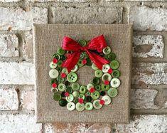 Arte dell'albero di Natale della tela da di TheBlueBootTX su Etsy
