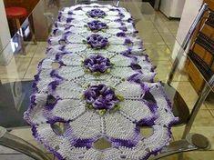 crochelinhasagulhas: Caminho de mesa em crochê