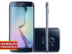 "Smartphone Samsung Galaxy S6 Edge 32GB Preto 4G - Câm. 16MP + Selfie 5MP Tela 5.1"" WQHD Octa Core"