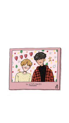 Chanbaek Fanart, Kpop Fanart, Baekyeol, K Wallpaper, Wallpaper Iphone Disney, Exo Stickers, Paint Cards, Boy Illustration, Exo Fan Art