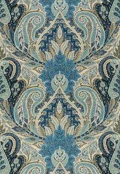 Cambay Paisley Print Azure