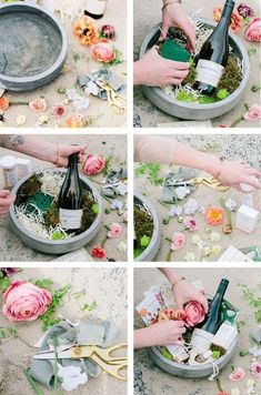 How to make a DIY spring basket - Geschenkideen - Diy Gifts For Mom, Homemade Gifts, Unique Gifts For Women, Creative Gifts, Cool Gifts, Diy Spring, Mother's Day Gift Baskets, Gift Basket Ideas, Raffle Baskets
