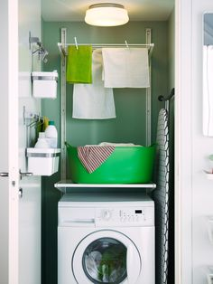 Explore small laundry room storage ideas at HGTV.com for pictures and options for maximizing the use of a small laundry space.