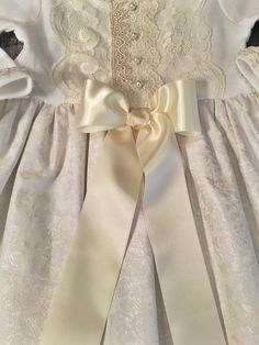 7e113770b Christening Dress for Baby Girl, Baby Girl Gowns, White Baptism Dress,  Ivory Lace Christening Gown, Special Occasion, Dedication Gown, Babys