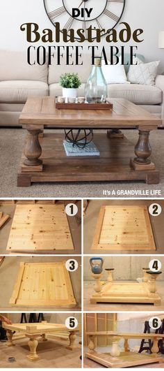 DIY Furniture Plans & Tutorials : Check out how to easily build this DIY Balustrade Coffee Table Industry Standard