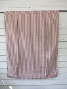 Red Ticking 36 Inch Long Roll Up Window Shade by BettyandBabs