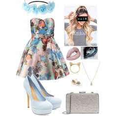 Untitled #302 by starmaterial54 on Polyvore featuring polyvore, fashion, style, Chi Chi, Michael Kors, Ippolita, Aamaya by priyanka and Charlotte Russe