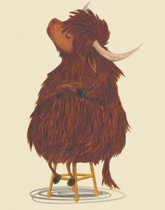Yak illustration by Emma Levey for Yuck! said the Yak written by Alex English, published by Maverick Arts.