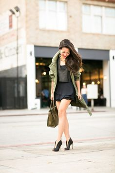 Olive Love :: Long Anorak & Layered top