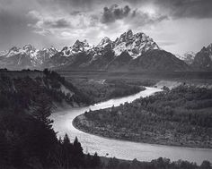 Art Print of Ansel Adams The Tetons and the Snake River Grand Teton National Park, Wyoming. National Archives and Records Administration, Records of the National Park Service. Print ID: Artist: Ansel Adams Ansel Adams Photography, Fine Art Photography, Nature Photography, Photography Tips, Straight Photography, Creative Photography, Urban Photography, Abstract Photography, Digital Photography